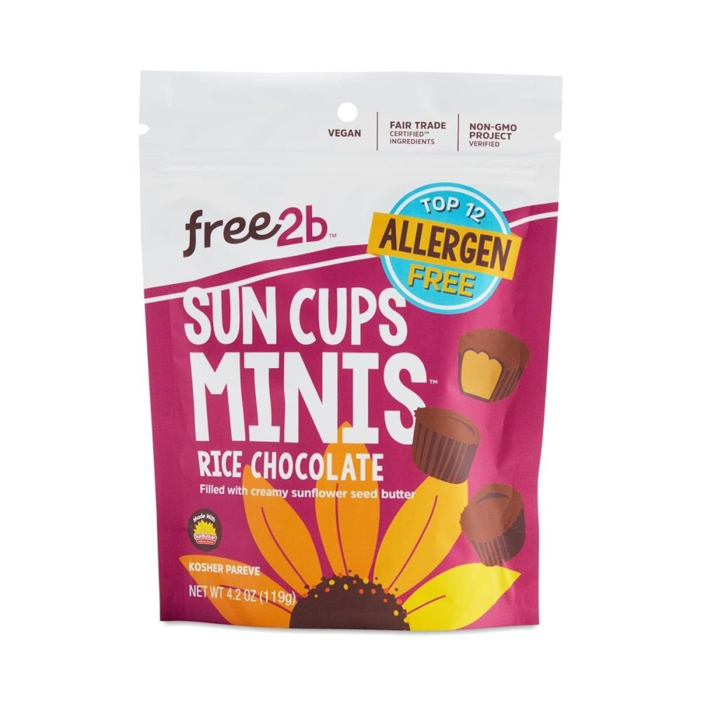 Free2b Foods Rice Chocolate Sun Cups Minis Gluten-Free, Dairy-Free, Nut-Free and Soy-Free - 4.2 Oz. (Pack of 3)