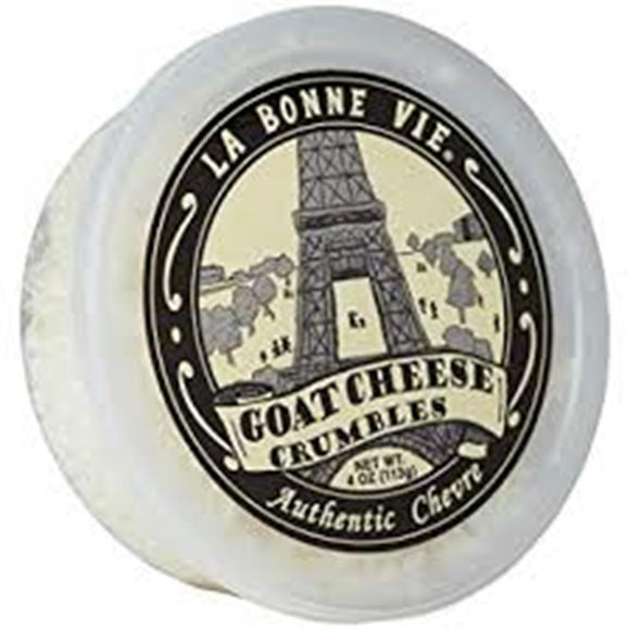 La Bonne Vie Crumbled Goat Cheese, 4 Oz (Pack of 3)