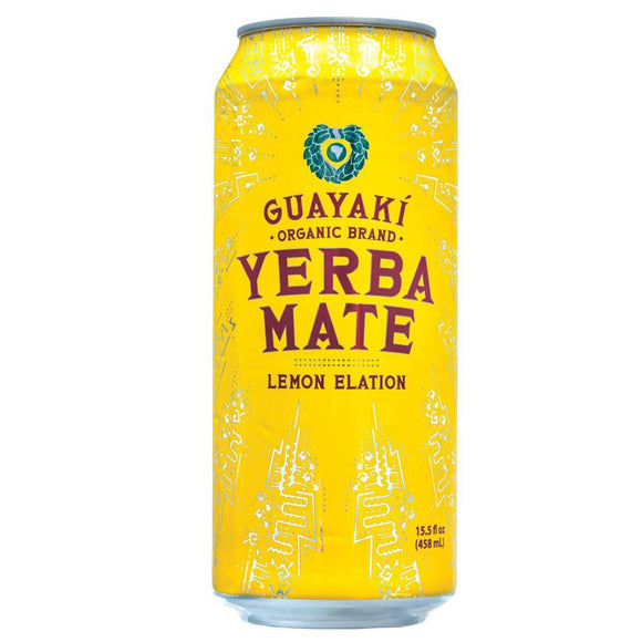 Guayaki Yerba Mate, Lemon Elation, 16 oz. (Case of 12)