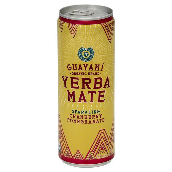 Guayaki Yerba Mate, Sparkling Cranberry Pomegranate, 12 oz. (pack Of 12)