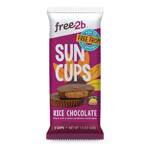 Free 2b Rice Chocolate Sun Cups, 1.5 oz. (Pack of 12)