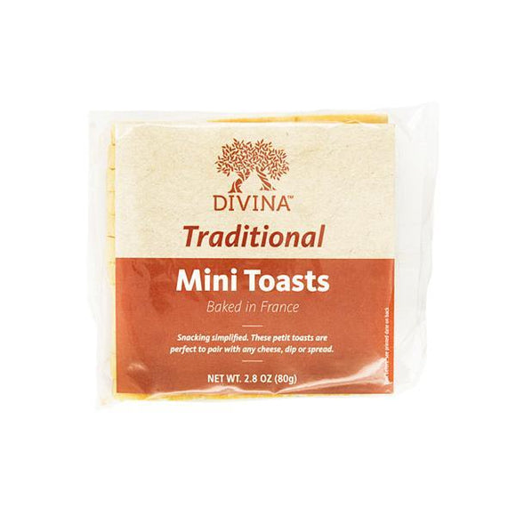 Divinia Mini Toast, 2.82 oz. (Case of 24)