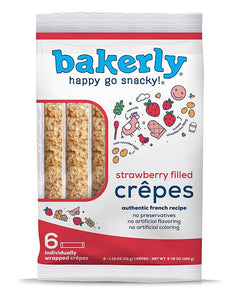 Bakerly Strawberry Filled Crepes, 6 ct (Case of 9)