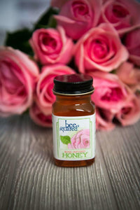 Bee Squared Rose Petal Honey, 3 oz