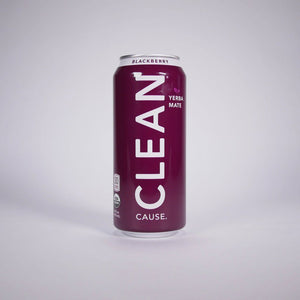 Clean Cause Sparkling Blackberry Yerba Mate, 16 oz. (Case of 12)