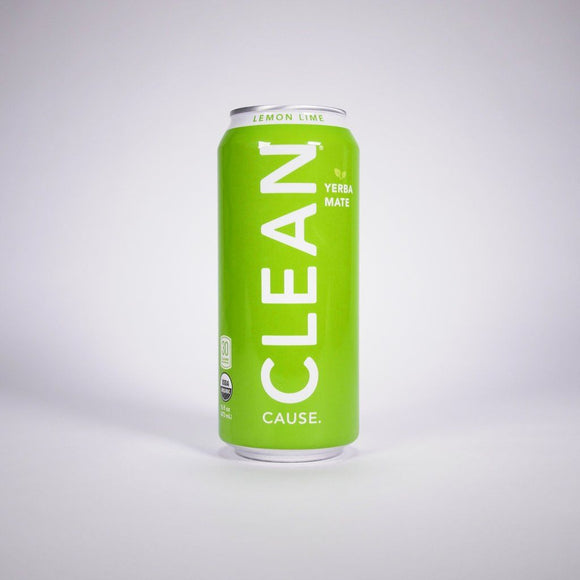 Clean Cause Sparkling Lemon Lime Yerba Mate, 16 oz. (Case of 12)
