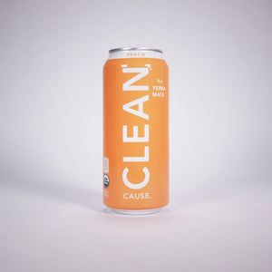 Clean Cause Sparkling Peach Yerba Mate - 16 Ounces (Case of 12)