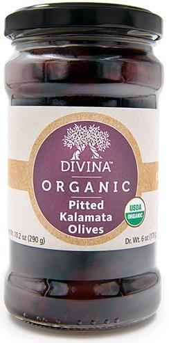 Divina Organic Pitted Kalamata Olives - 6 Oz