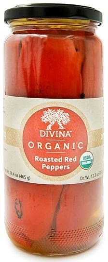 Divina Roasted Sweet Red Peppers, 13 oz.
