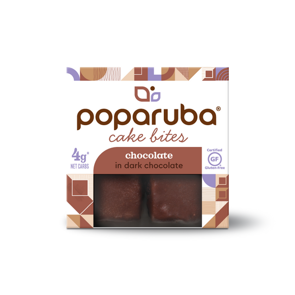 Poparuba Cake Bites<br>Chocolate<br>6 (2.4 oz) Boxes