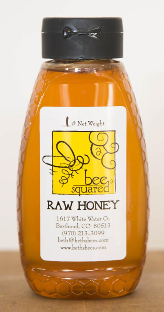Bee Squared Clover Honey, Squeeze Bottle, 16 oz.
