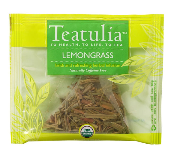 Teatulia Lemongrass Herbal Infusion Tea, 50/2 gr