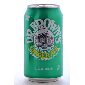 Dr. Brown's Soda, Ginger Ale, 24/12 Oz