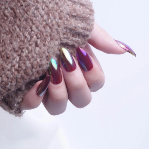 5 Minute Holographic Oval Nails - Beauty Fashion Hair Shop
