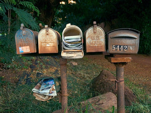 Bye bye regular mail! Put your mailbox to rest!