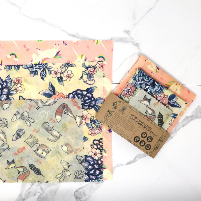 Beeswax wraps kit for all your needs, reusable food wraps, beeswax food wrap