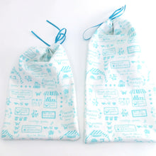 Zero waste reusable bags for fruits and vegetables, farmer's market bags