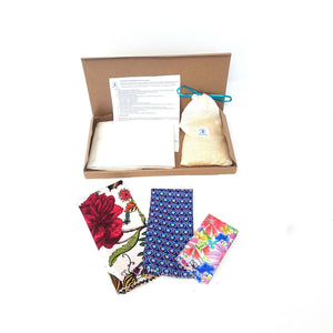 DIY Beeswax wraps kit for all your needs, reusable food wraps, DIY Beeswax Food Wrap , Flower DIY