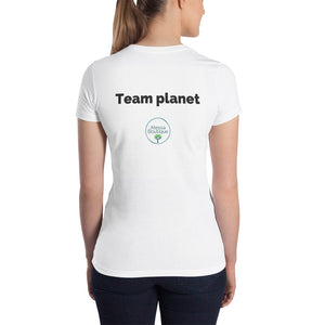 Fighting for the planet Women's Slim Fit T-Shirt - Atessa