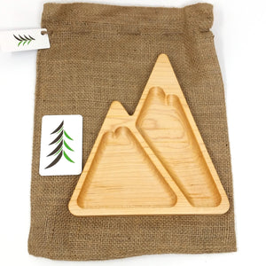 Kid wooden mountain plate