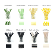 Eco friendly paper straws for your parties - Black and White - Atessa