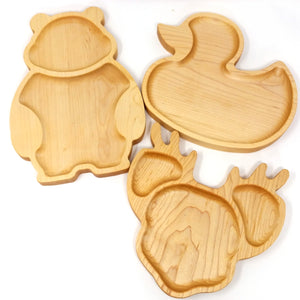 Kid wooden plate