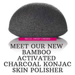 Sweet Cheeks Bamboo Activated Charcoal Konjac Skin Polisher