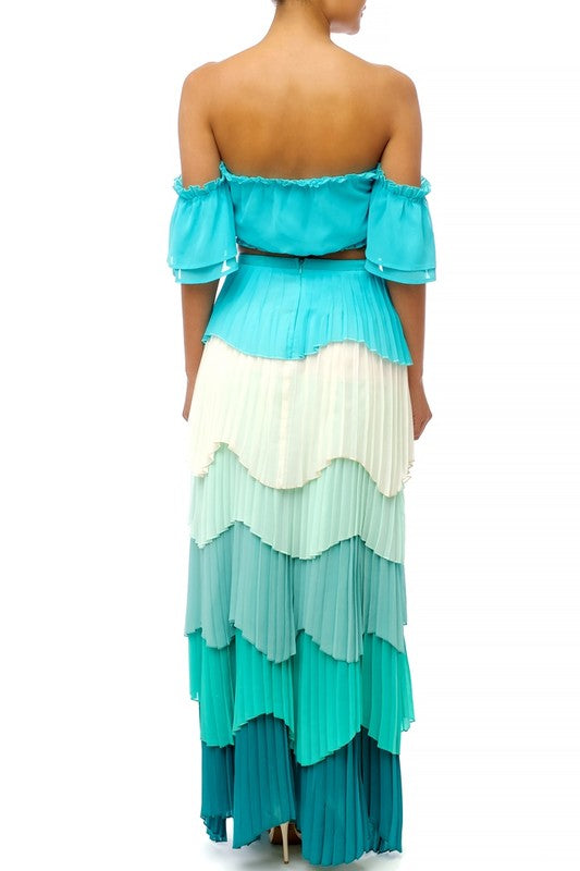 'TESI' Layered 2Pc Maxi Dress