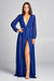 Legacy Long Sleeve Deep Plunge Maxi Dress