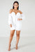 White Off Shoulder Long Sleeve Bodycon Dress