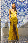 Watch Me Ruffle Maxi Dress - S / Yellow