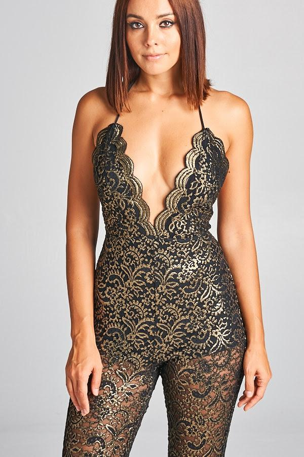 Salma Open Back Lace Jumpsuit