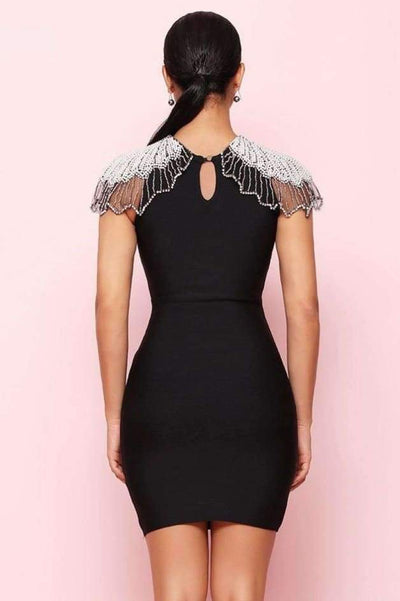 Estelle Bead Embroidered Bandage Dress