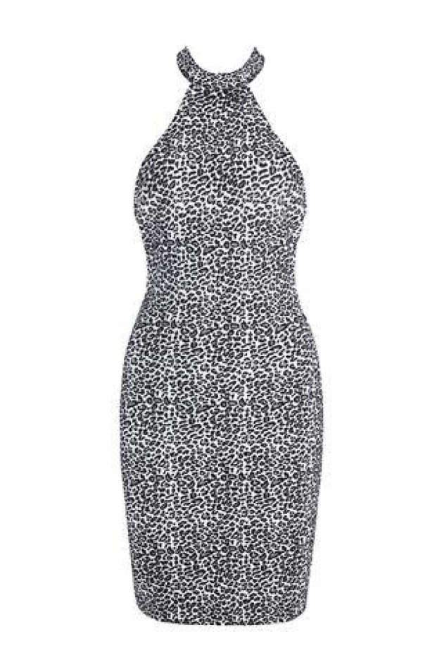 'NETTI' Leopard Print Bandage Dress