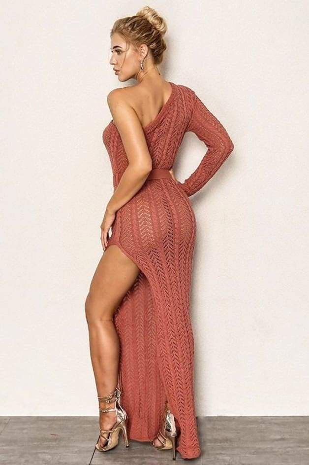 'SAHARA' One Shoulder Maxi Dress