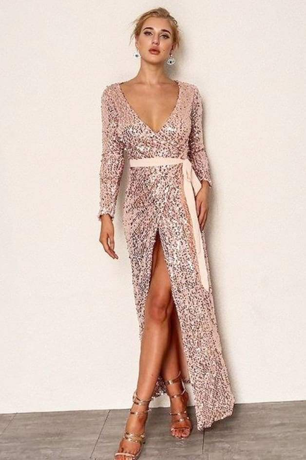 'UNISA' Sequin Maxi Dress