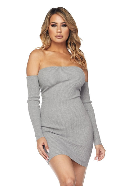 Caged Off Shoulder Dress