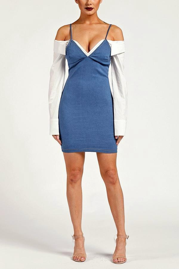 Chasley Denim Dress - S / Light Denim