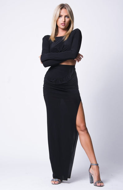 Joyden Two-Piece Maxi Dress - S / Black