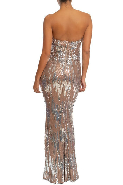 Isadell Sequin Maxi Dress