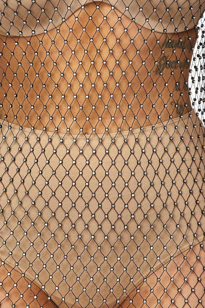 Hot Catch Diamond Fishnet Dress