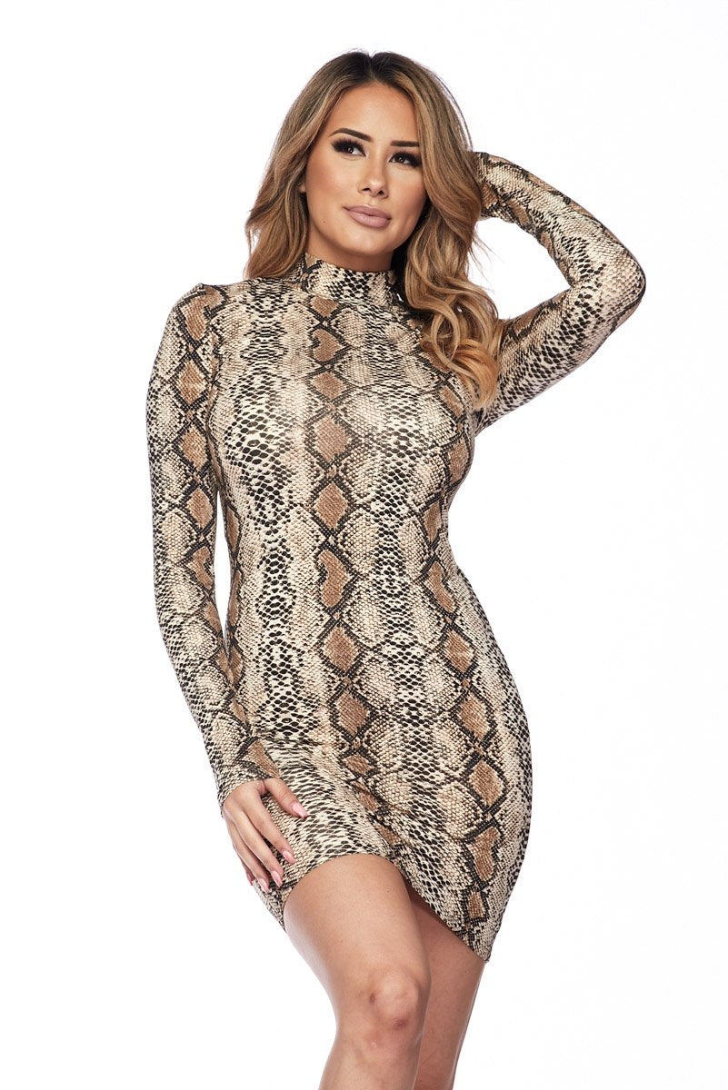 Venom Long Sleeve Mini Dress - S