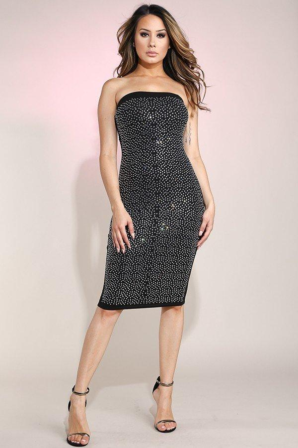 Crushing Rhinestone Dress - S
