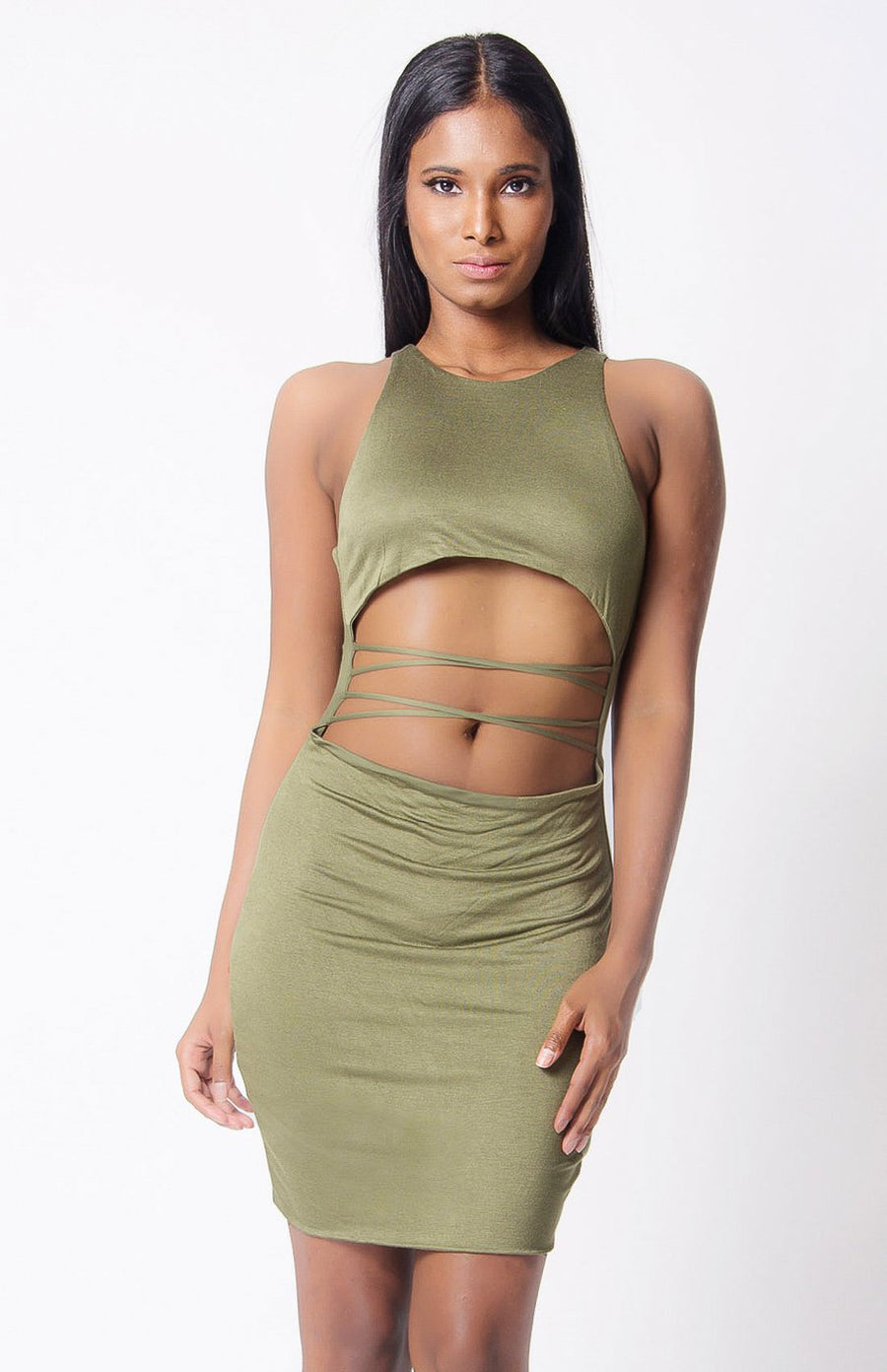 Calmer Cage Cut-Out Dress