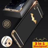 Batman 3 In 1 Shockproof Protective Electroplated Phone Case