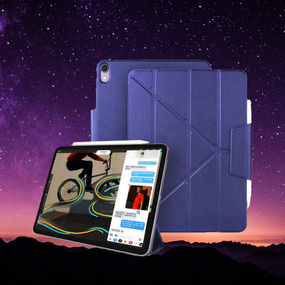 Magnetic Multi-Fold PU Leather Smart Cover Case for iPad Pro
