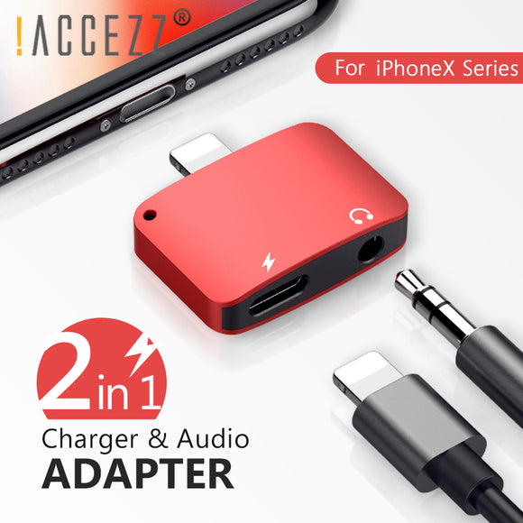 2-in-1 iPhone Lightning Charger + Headphone Adapter (Please don't stop the music!)