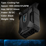 High Performance suction type external laptop cooler