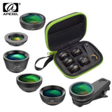 Phone Camera Lens Kit 6 in 1 Fish Eye Lens 210 Degree Wide Angle  Macro Lens CPL/Star Filter 2X telephoto