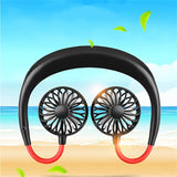 Mini Portable USB 1200mAh Rechargeable Dual Cooling Fans